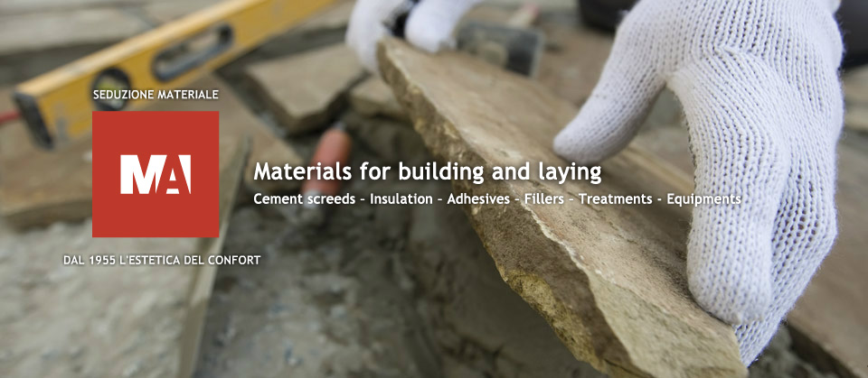 Materials for building and laying