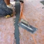 Laying of new waterproofing systemPosa del nuovo sistema di impermeabilizzazione