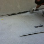 Removing exiting waterproofing systemRimozione del sistema di impermeabilizzazione esistente