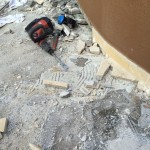 Removal of the old pavementRimozione della pavimentazione
