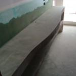 Leveling Top and wallsRasatura del top e pareti