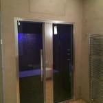 Bathroom completed, turkish bath doorBagno terminato, porta del bagno turco