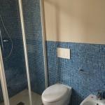 Shower and wc/bidet zone at the end of restylingZona doccia e sanitari terminata
