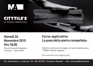 CITYTILE'S LAYING COURSECITYTILE'S CORSO APPLICATIVO