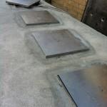 Initial situation, proper sealing of hatches in steelSituazione iniziale, corretta impermeabilizzazione di botole in acciaio
