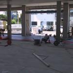 Indoor laying of the sheath and floor without expansion jointsPosa in opera interna della guaina e del pavimento senza giunti di dilatazione