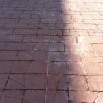 Initial situation, cotto tiles broken in several placesSituazione iniziale, pavimento in cotto rotto in diversi punti