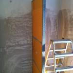 Fixing the steel structure and XPS panelsFissaggio della struttura in acciaio e pannelli in XPS
