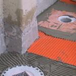Installation details about drainParticolare di posa dello scarico