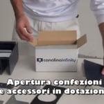 Drain elements at unpackagingApertura confezione dei componenti di scarico Infinity