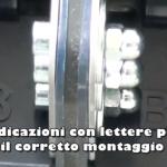 Follow the letter on the drain to execute a correct fixingSeguire le lettere sullo scarico per eseguire un corretto fissaggio
