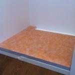Laying Kerdi-board panelsPosa di panelli kerdi-board
