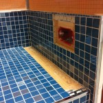Example of bathroom vanity tops made ​​using KERDI-BOARDEsempio di top da bagno realizzato con Kerdi-Board