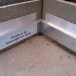 Internal corner skirting boards preparingAngolo interno predisposizione battiscopa
