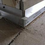 External corner skirting boards preparingAngolo esterno predisposizione battiscopa