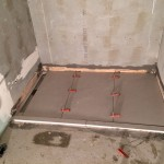 Laying porcelain tile on polistirene shower trayPosa gres piatto doccia pendenziato in polistirene