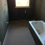 Bathroom during restylingBagno durante il restyling