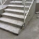 Outdoor stairs before waterproofingScala esterna prima della impermeabilizzazione