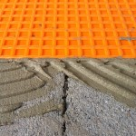 Laying of waterproofing systemPosa del sistema di impermeabilizzazione