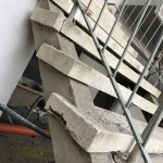 Outdoor staircase degraded situationScala esterna, situazione degradata