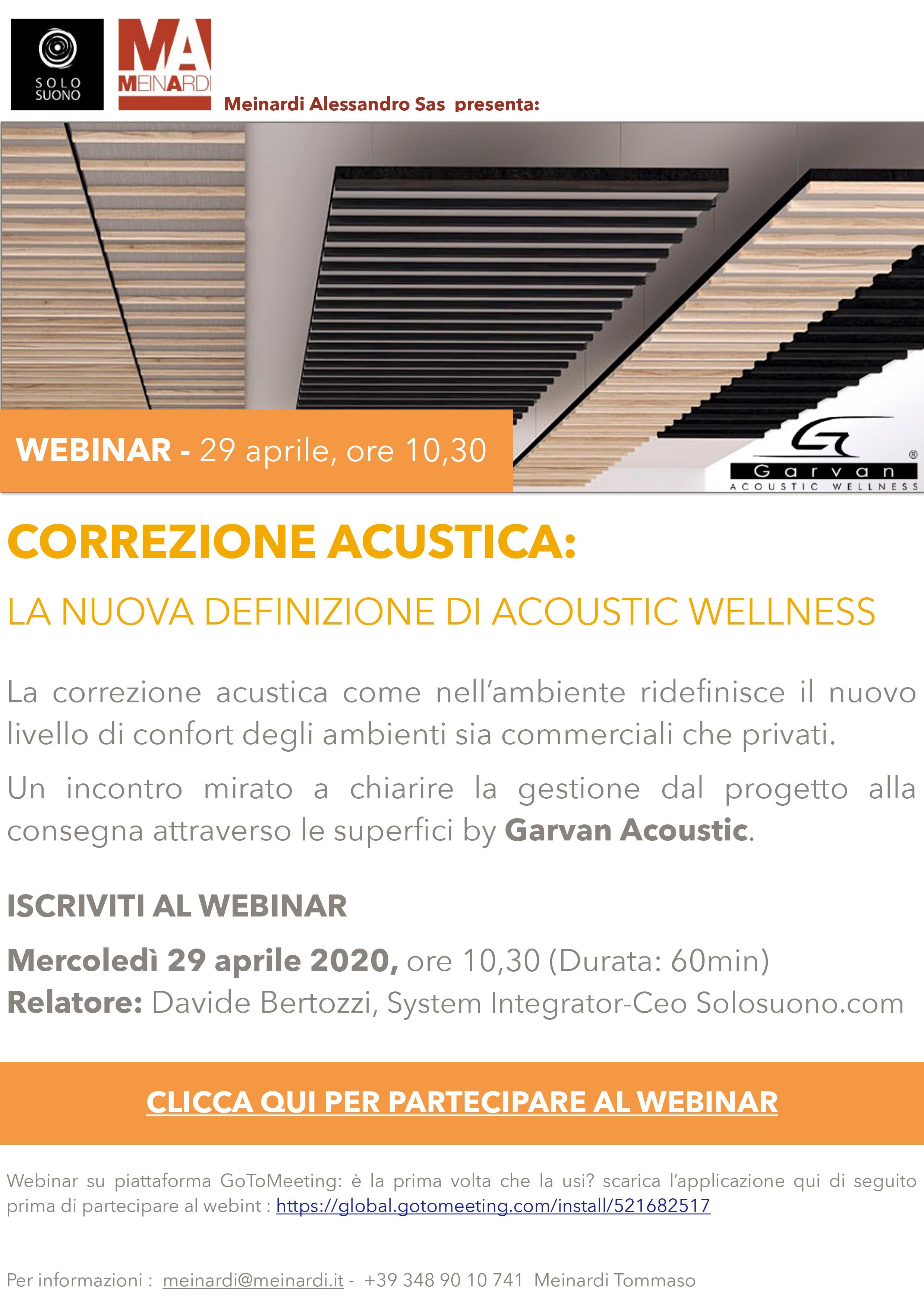Webinar Correzione acustica